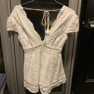 Fashion Nova White Romper